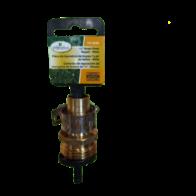"""Conector Terminación macho de Reparación para Manguera de bronce de 5/8"""", marca Landscapers."""
